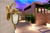 Outdoor lamp Antique European style Wall lamp E27 Small Fishing lamps (Bronze)