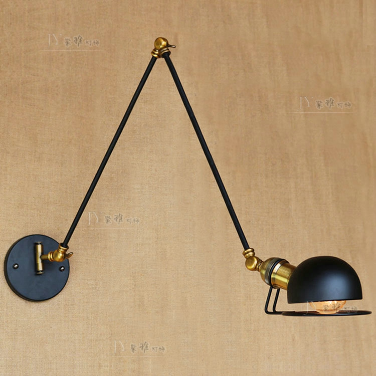 long arm three telescopic, wrought iron lamp decoration club booth French small cafe wall lamp of the head of a bedlong arm three telescopic, wrought iron lamp decoration club booth French small cafe wall lamp of the head of a bed