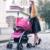 Ligero Cochecito De Bebé de Lujo con Amortiguador Caliente Mamá Moda Cochecito Paisaje de Alta Capazo