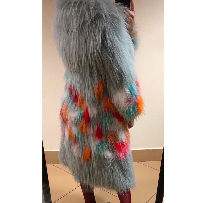 Femmes Chaud Mode Nouveau Turn down Picture Réel Veste Raton De Chien Hz Fourrure D'hiver 013 Avec Naturel Manteau Collar Laveur Outwear As LzUVqSMpG