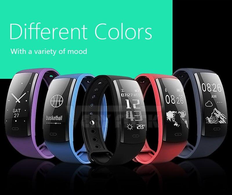 VERYFiTEK V12 Fitness Bracelet IP67 Life Waterproof  Smartband Heart Rate Blood Pressure Oxygen Monitor Smart Wristband Tracker (2)