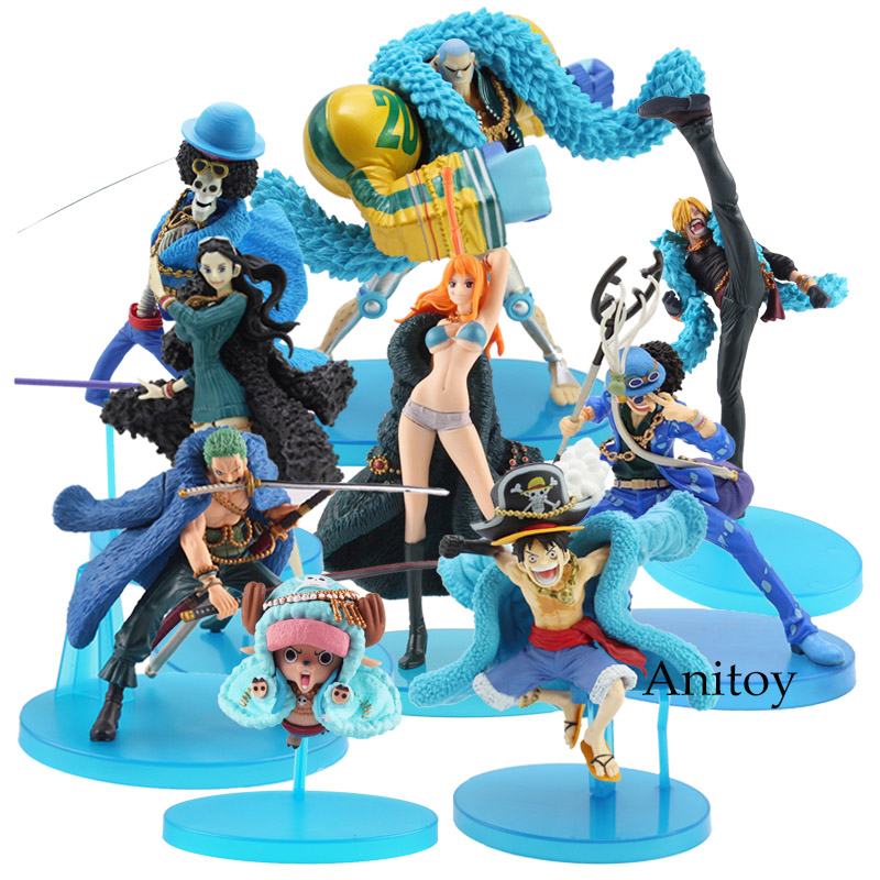 One Piece Figure Luffy Nami Franky Brook Robin Sanji Roronoa Zoro Tony Chopper Usopp 20th Anniversary Ver. PVC Action Figure Toy anime one piece pop childhood ver zoro sanji luffy nami robin pvc action figures collectible model toys 10 types