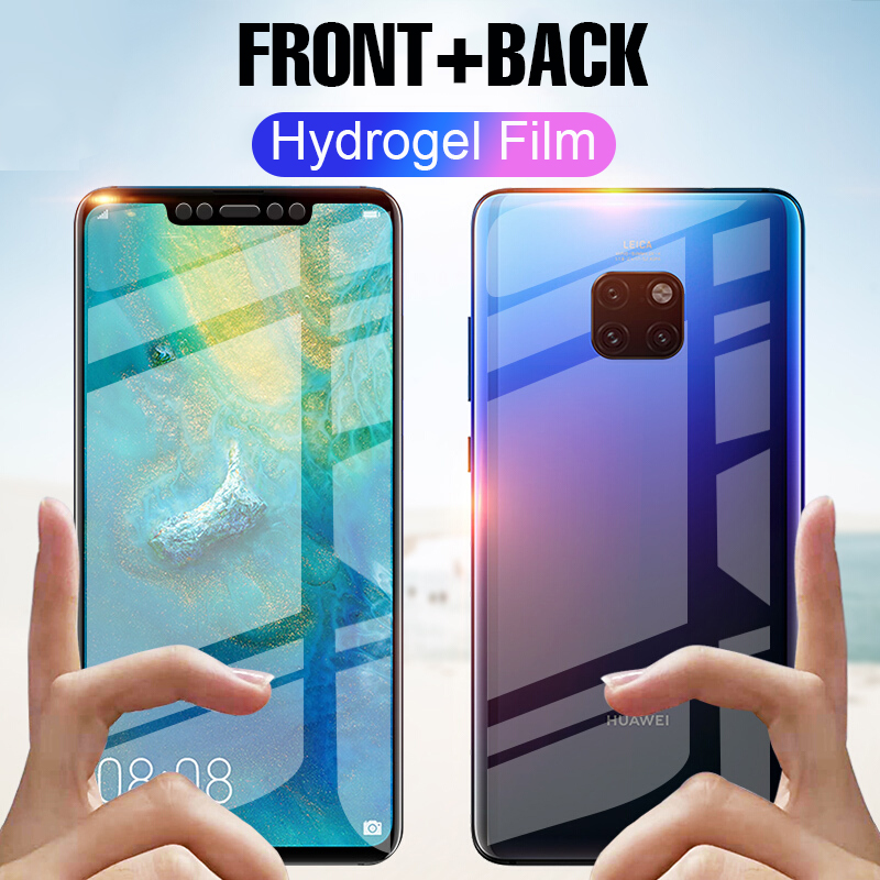 Full Curved Screen Protector Hydrogel Film On The For Huawei Mate 20 Pro X Mate 20 Lite Front Back Protective Soft Film No Glass