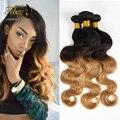 Top Brazilian Virgin Hair Body Wave 3PCS/lot Brazilian Remy Hair Human Hair Extension Brazilian Body Wave Ombre Hair Extensions
