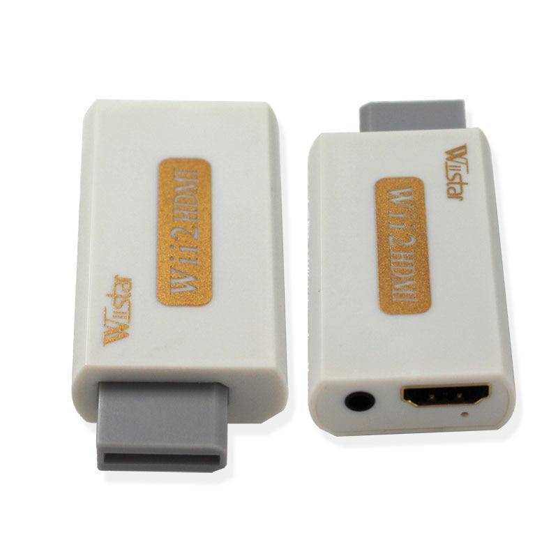 Wiistar Wii HDMI Wii2HDMI ադապտորը վաճառքի է հանվում Full HD 1080P ելքային բարձրացում + 3.5 մմ աուդիո տուփ