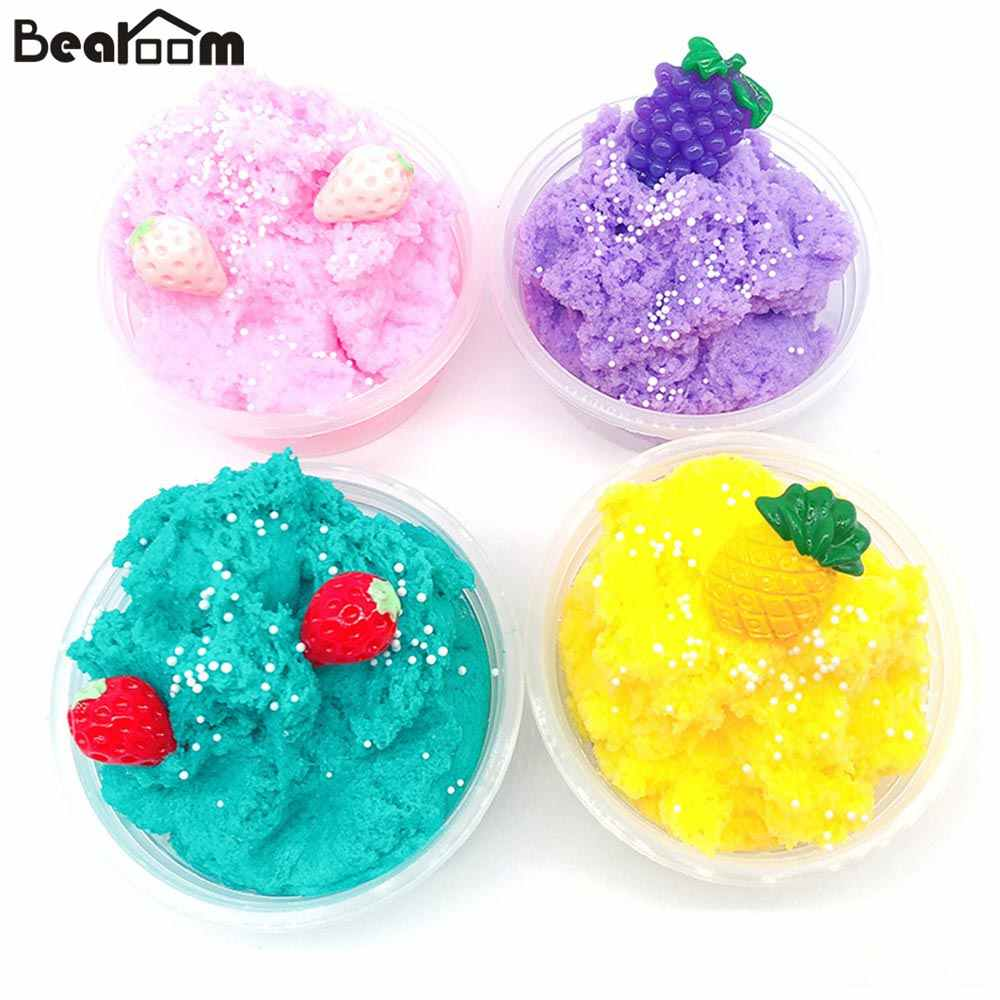 Bearoom Soft Modeling Clay Cloud Slime Fimo Polymer Clay Pineapple Fluffy Slime Learning Education Toys Christmas Gifts For Kids