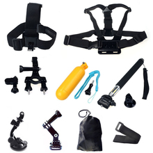 Accessories kit for Gopro hero 3 Xiaomi Yi 4K Chest Head Mount Strap Float bobber For Go pro SJCAM SJ4000 Action Camera