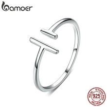 bameor Authentic 925 Sterling Silver Simple Minimalist Open Adjustable Finger Rings for Women Fashion Band Female Bijoux SCR555(China)