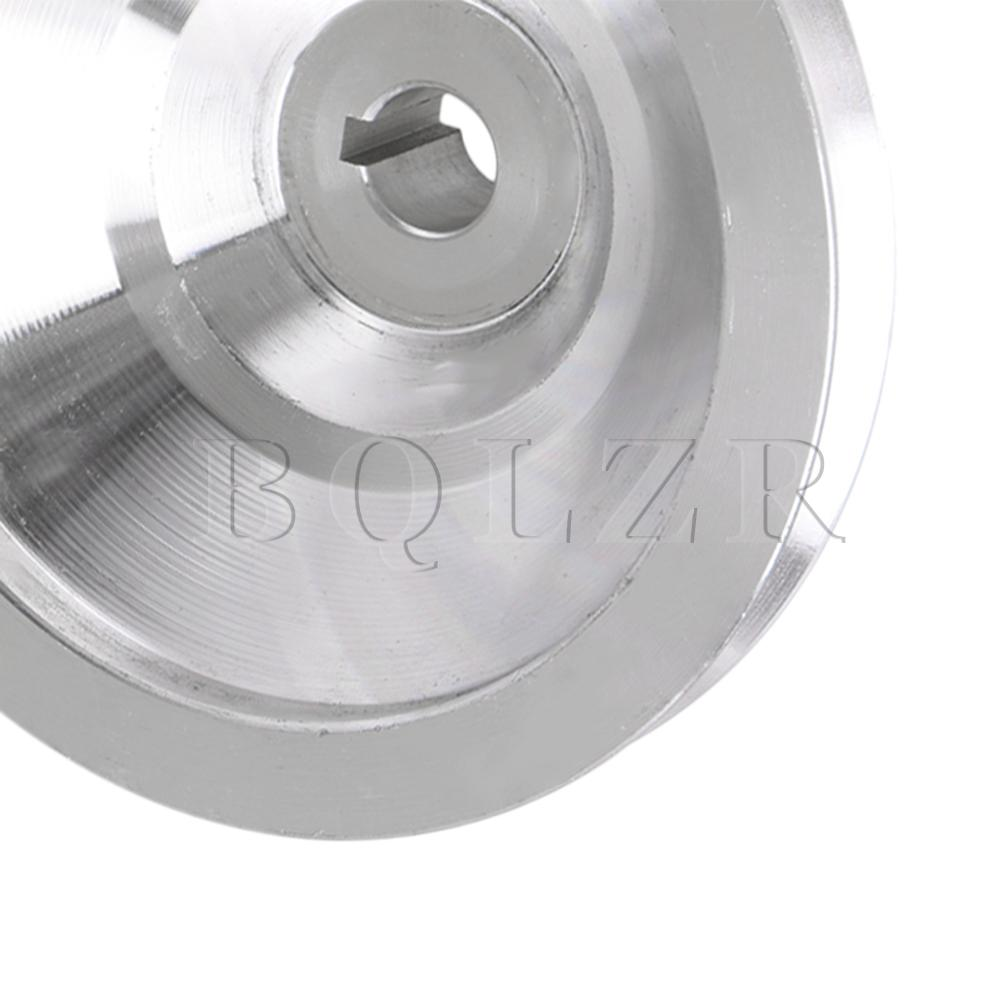 Silver Aluminum Alloy Groove Pulley 58x8MM for Milling Machine PU Belt