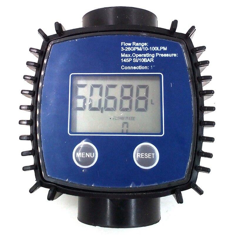 Débitmètre à Turbine numérique réglable K24 pour huile, kérosène, produits chimiques, essence, méthanol, eau, urée, Etc.10-120L/Min