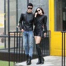 Unisex Leather Jacket Women Jaqueta De Couro Feminina Leather Jacket Black Women Clothing  Casaco de couro Abrigo de cuero Z927