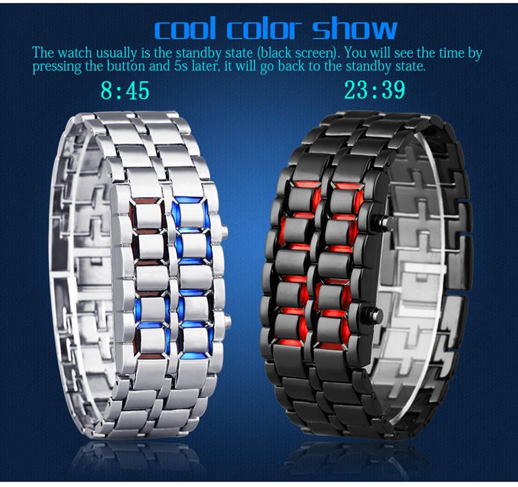 Aidis youth sports watches waterproof electronic second generation binary LED digital men's watch alloy wrist strap watch 21