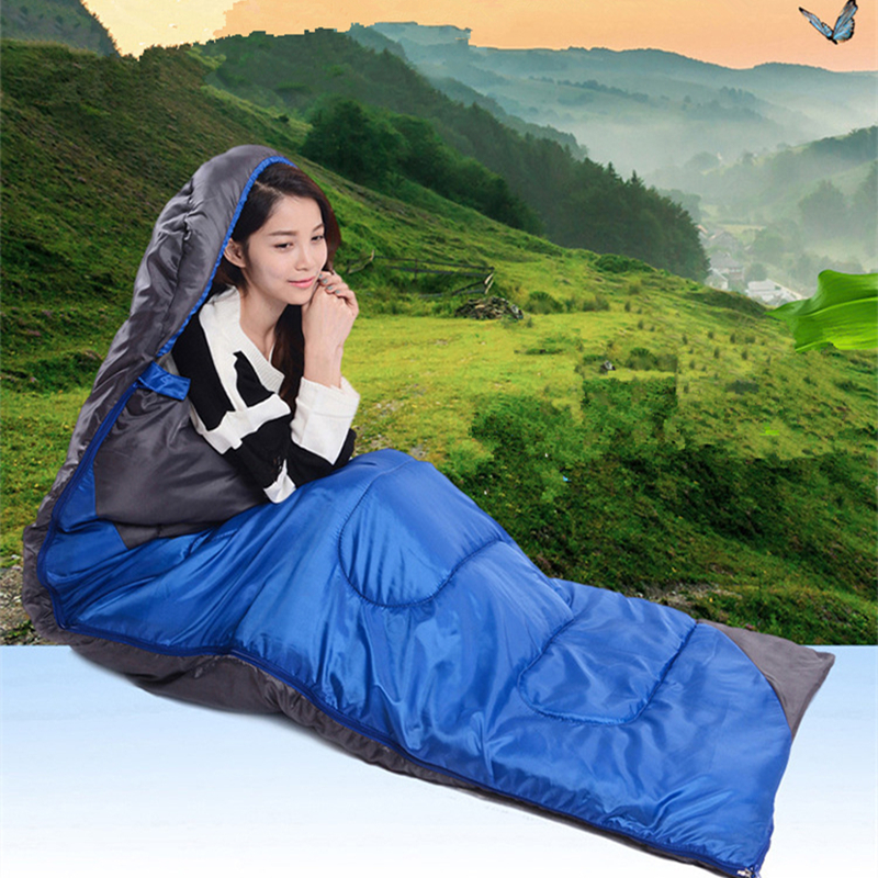 Image 5 - VILEAD 2 Colors Envelope type Ultralight Sleeping Bag Hiking Camping Stuff Adult Quilt Lightweight Portable Waterproof Summer-in Sleeping Bags from Sports & Entertainment