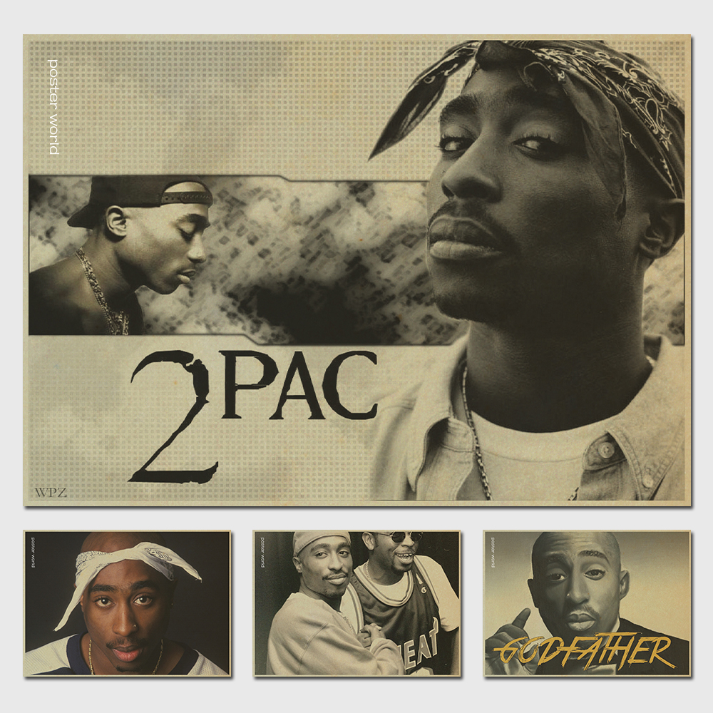 online get cheap tupac decor aliexpress com alibaba group jay z tupac jay z 2pac rap god retro poster vintage prints poster wall home