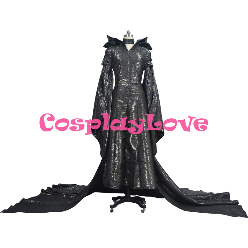 Customized America Movie Maleficent Angelina Jolie Outfit Dress Cosplay Costumes Animation The witch Halloween Costume Dress