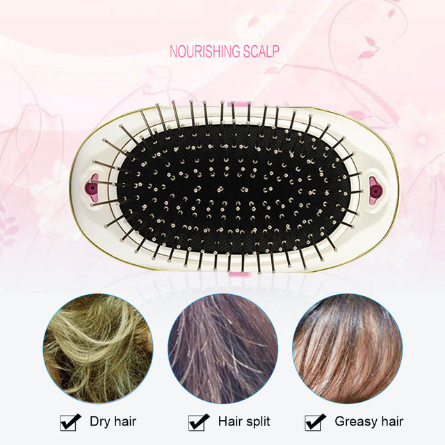 New Portable Electric Ionic Hairbrush Takeout Mini Small Hair Magic Beauty Brush Comb Massage Home Travel Using HJL2018