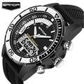 Relojes Hombre Мужчины Повседневная Спорт Кварцевые Часы Открытый Военный СВЕТОДИОДНЫЙ Дисплей Часы мужская Цифровые Наручные Часы Мужчина Часы Relogios
