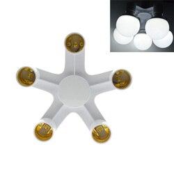 3 в 1/4 в 1/5 в 1 E27 к E27 База гнездо сплиттер светодиодный свет лампы адаптер держатель
