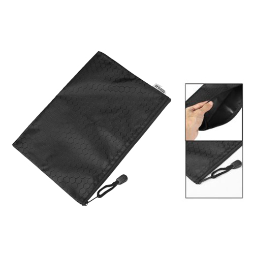 Affordable Black Nylon Sexangle Printed A5 Paper Document Files Organizer Bag