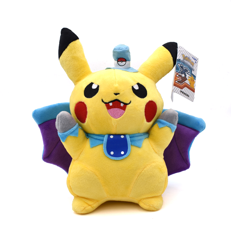 25cm Pikachu Cosplay Vampire Bat Plush Toys Children Gift Cute Soft Toy Cartoon Anime Kawaii Baby Kids Toy Pikachu Stuffed