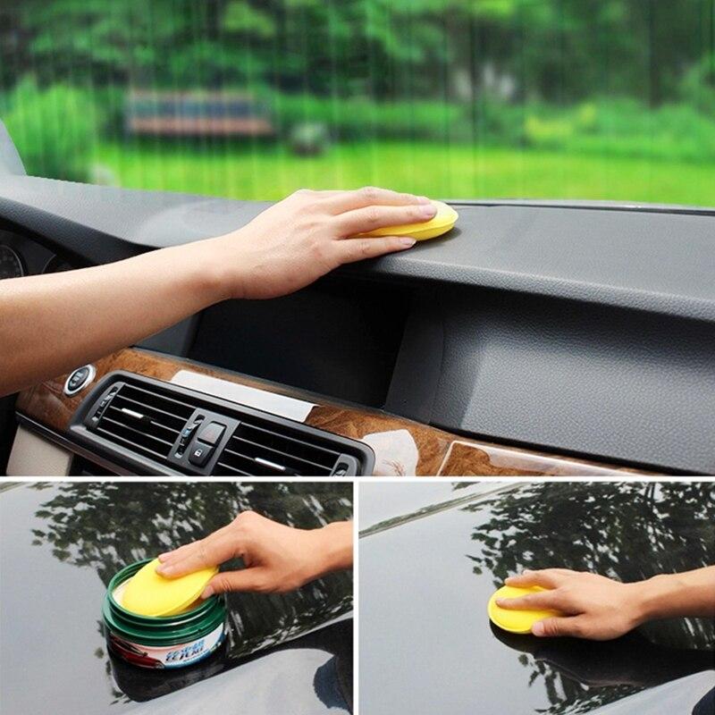 12 Pcs/set Yellow Car Cleaning Tool Applicator Pads Sponge Car Wax Sponge Anti-Scratch Car Care