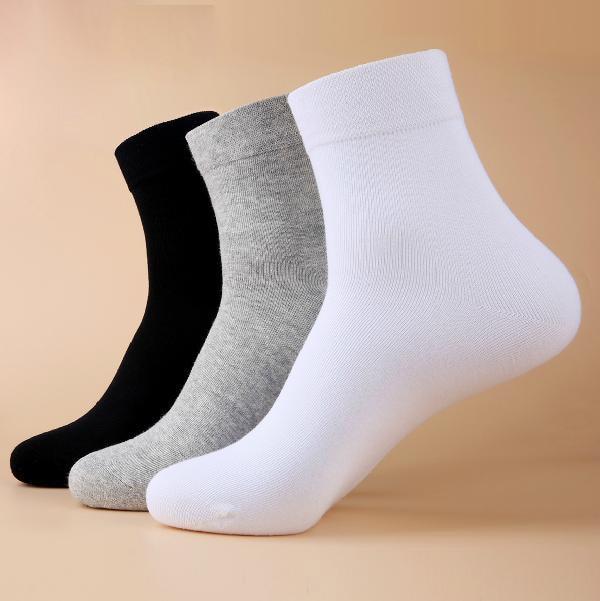 1 Pairs Good Quality New Classic Black White Gray Solid 3 Colors Socks Fashion Brand Quality Men's Socks Casual Socks For Men