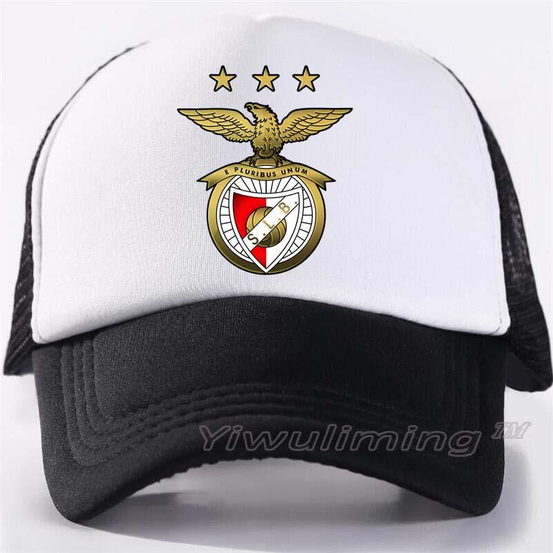 New Summer Trucker   Caps   benfica Cool Summer Black Adult Cool   Baseball   Mesh Net Trucker   Caps   Hat for Men Adjustable