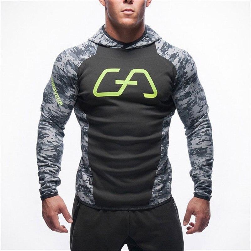 Men Cotton Hoodie Sweatshirts Fitness Clothes Snapback Hoodies Bodybuilding Pullover Discount Sweatshirt