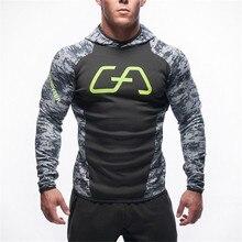Männer Baumwolle Hoodie Sweatshirts Fitness Kleidung Hysterese Hoodies Bodybuilding Pullover Rabatt Sweatshirt