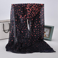 New Shawl National Brand Scarves Women Silk Dots Scarf Printed Autumn Coffee Headcloth Spring Hot Sale Sunscreen Silk Wraps J048