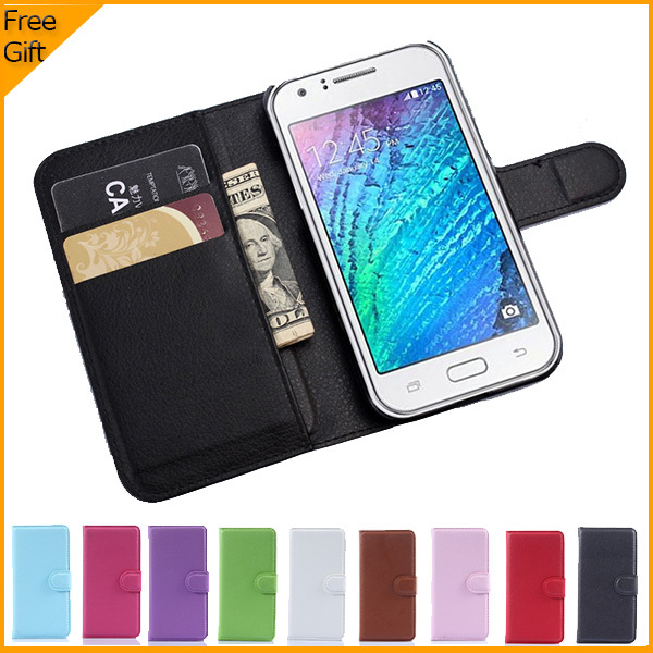 Luxury Wallet PU Leather Flip Case Cover Hoesjes For Samsung Galaxy J1 J100H Cell Phone Case Back Cover With Card Holder Stand