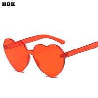 HBK Amor Coração Óculos De Sol Doce Cor Mulheres Do Olho de Gato Do Vintage Claro rosa Vermelha da Forma Do Coração Óculos de Sol para Mulheres UV400 óculos de sol 2018 Oculos