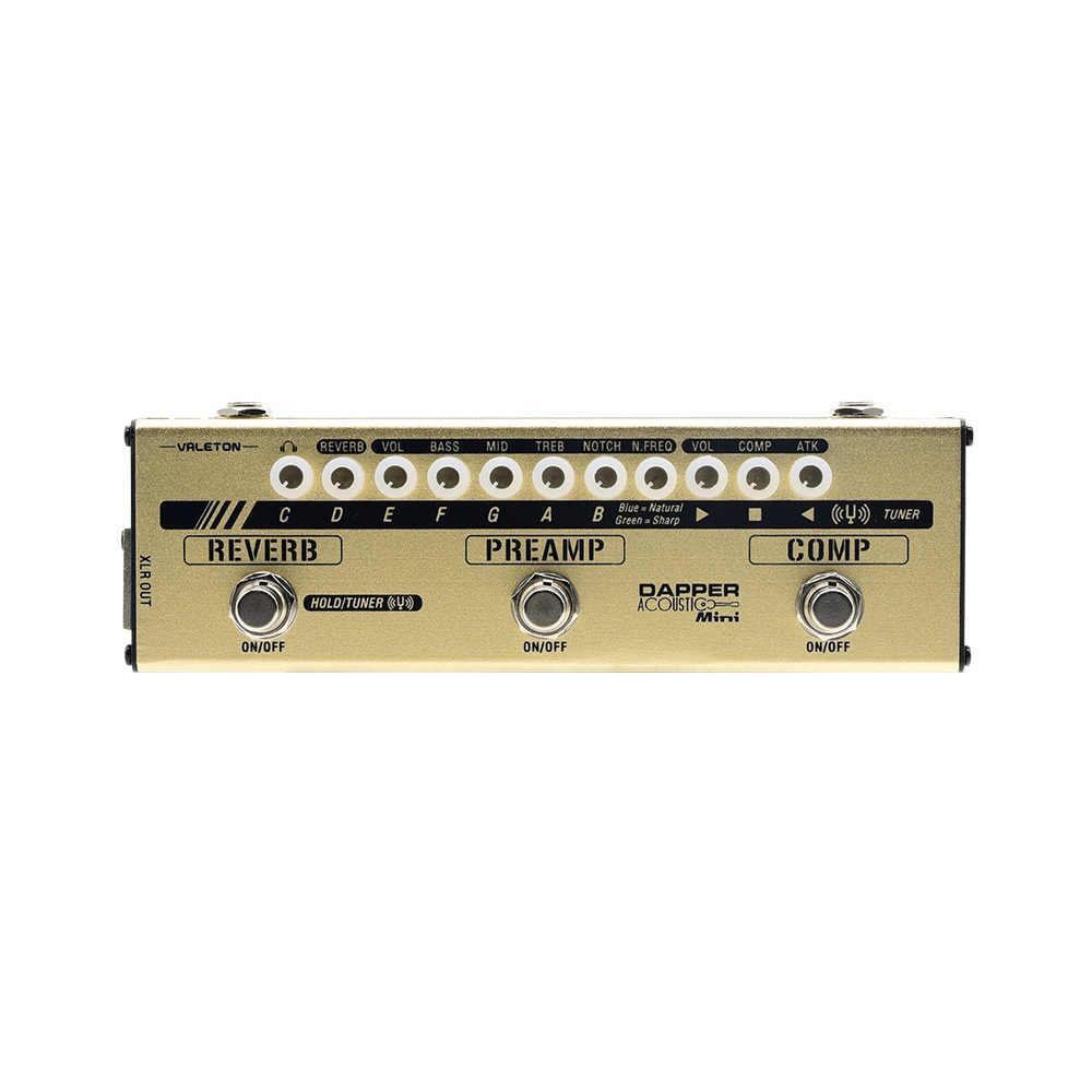 Valeton Dapper الصوتية البسيطة تأثير قطاع موالف Overdrive تشويه تأخير Comp Preamp كشف عن لاعب الصوتية MES-4