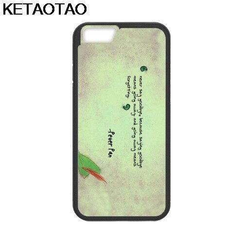 KETAOTAO All Peter Pan Quotes Phone Cases for iPhone 4S 5C 5S 6S 7 8 Plus
