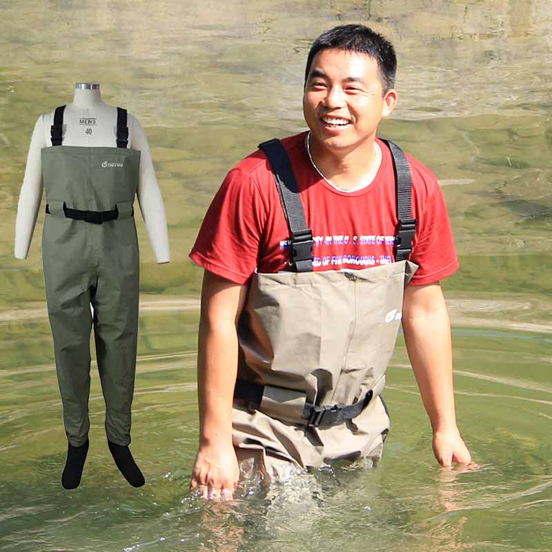 Pesca Wader for Fly Fishing Botas De Pescador with Neoprene Socks Breathable Chest Fly Waders