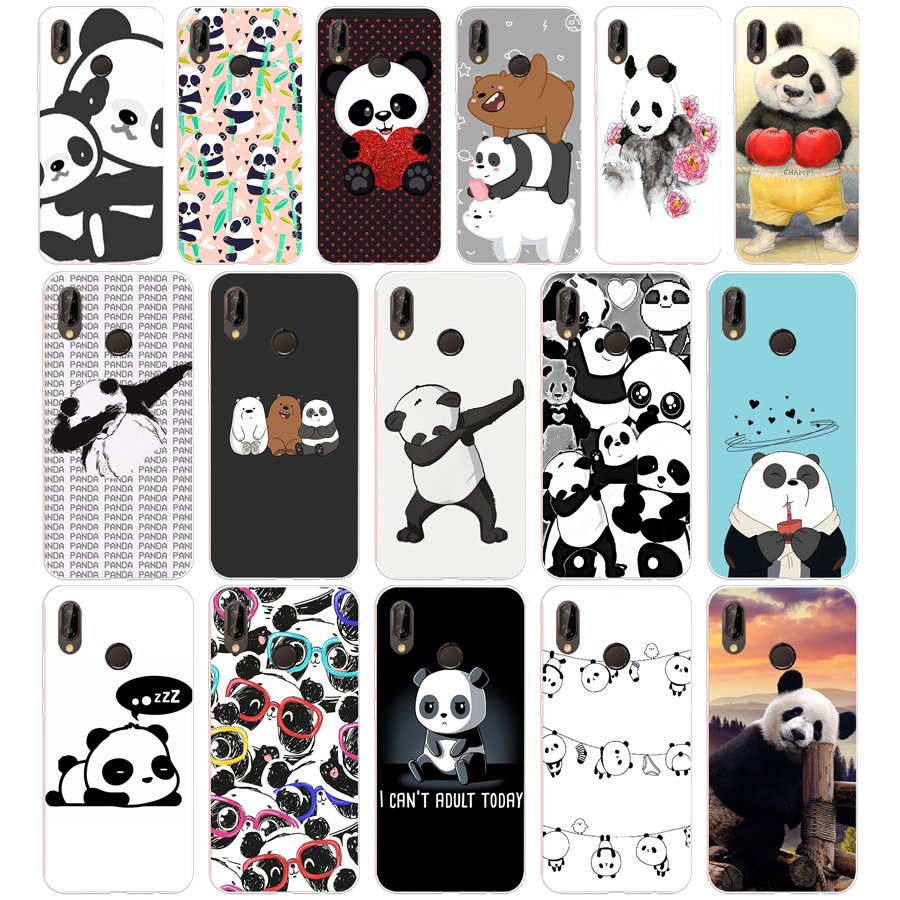 47SD cute little panda Soft <font><b>Silicone</b></font> Tpu Cover <font><b>Case</b></font> for Honor 10 <font><b>huawei</b></font> p mate 10 20 lite <font><b>y5</b></font> y6 prime <font><b>2018</b></font> image