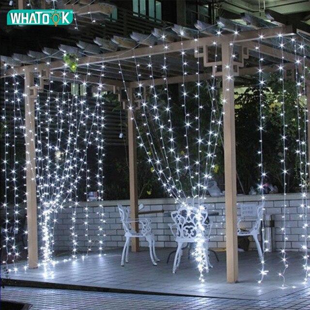 LED Curtain Icicle string fairy light 300leds 4.5M x 3M Xmas Christmas Wedding home garden party garland decor 110V 220V US EU