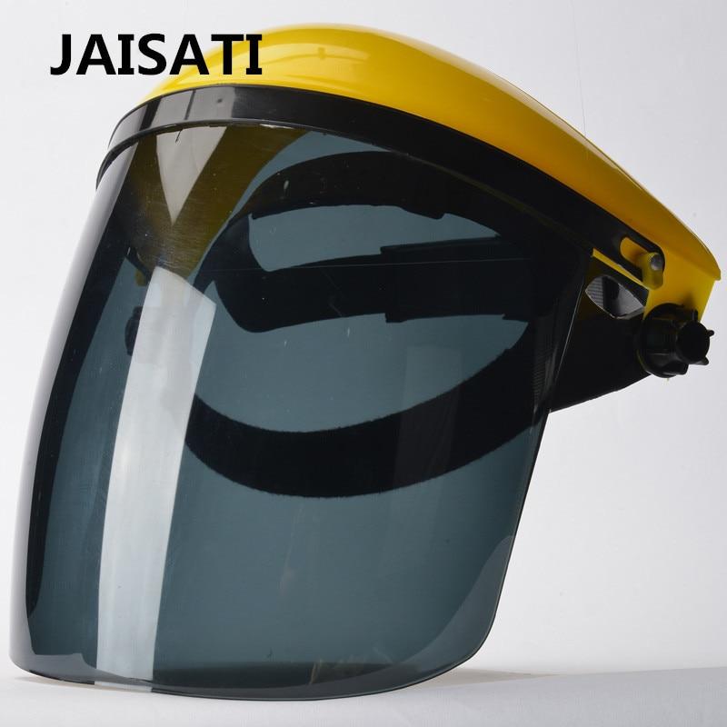 JAISATI Head-mounted dust protective mask full face headband type welding plastic welding transparent mask outdoor protective transparent plastic mask with elastic strap