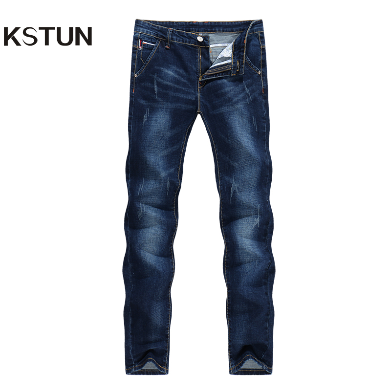 KSTUN Jeans männer Stretch Slim Fit Marke 2018 Hohe Qualität Casual Denim Hosen Jogger Yong Mann Hosen Mode Taschen desinger