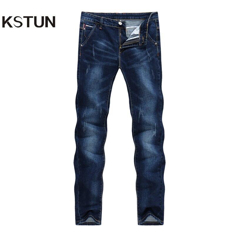 KSTUN   Jeans   Men's Stretch Slim Fit Brand 2018 High Quality Casual Denim Pants Joggers Yong Man Trousers Fashion Pockets Desinger
