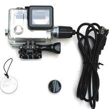 Suptig عمل كاميرا اكسسوارات دراجة نارية شحن مقاوم للماء الحال بالنسبة ل Gopro بطل 4 / 3 شاحن شل الإسكان كابل USB