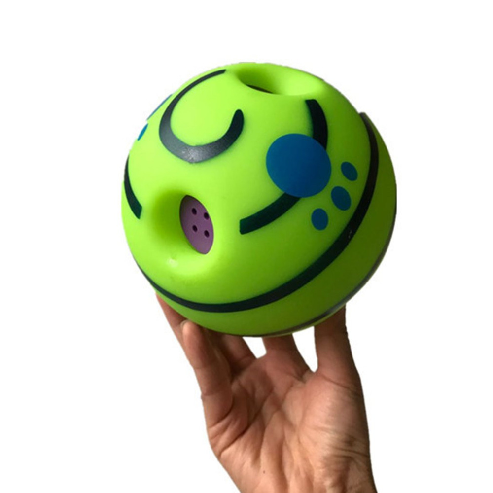 Funny Sound Pet Dogs Cats Playing Ball Wobble Wag Giggle Chewing Ball Puppy Training Ball With Funny Sound Gift Pet Toy Supplies