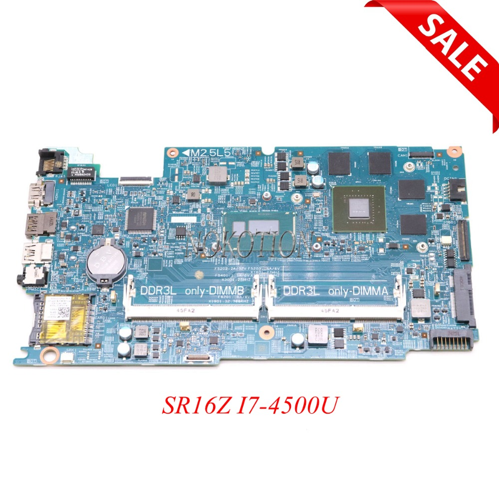 NOKOTION DOH50 MB 12311-2 KJ7NX CN-02KN1H 02KN1H 2KN1H Pour Dell Inspiron 15 7537 Ordinateur Portable Carte Mère SR16Z I7-4500U GT750M