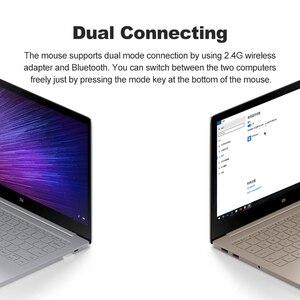 Image 5 - Original Mini Xiaomi souris sans fil 2.4 GHZ Bluetooth 4.0 Portable alliage ABS jeu souris 10 M portée de détection pour Windows7 macOS