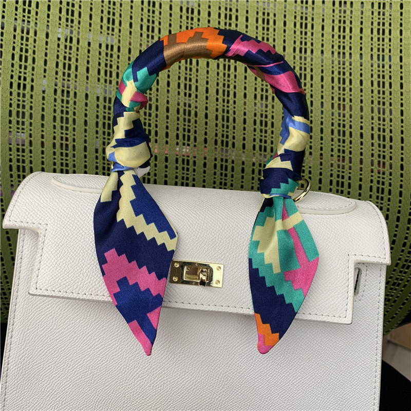 2019 New Women's Skinny Scarf Long Print Neckerchief Tie Female Fashion Bag Handle Scarves Accessories Fashion Hair Scarf 95X4CM