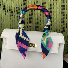 2019 New Womens Skinny Scarf Long Print Neckerchief Tie Female Fashion Bag Handle Scarves Accessories Hair 95X4CM