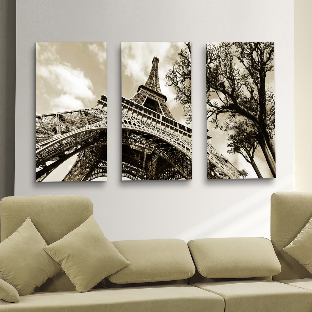 Cuadro Modernos Us 43 07 Wall Art Canvas Painting Wall Pictures For Living Room Quadros Cuadros Modernos The Paintings Eiffel Tower Decoration No Frame In