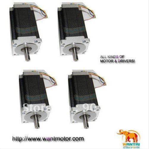 цена на CNC 4PCS NEMA34 Wantai Stepper Motor High Quality 1600oz-in ,3.5A,Dual shaft CNC kit