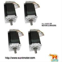 цены 4 PCS NEMA34 Stepper Motor High Quality 1600oz-in CNC