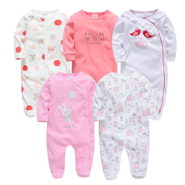 Kavkas Baby Girl Rompers Full Sleeve Autumn Winter 3m 6m 9m 12m Newborn Baby Boy Girl Jumpsuits roupa bebes